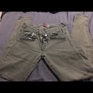 Green olive pants size 8